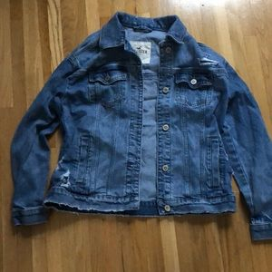Hollister Size Small Ripped Jean Jacket